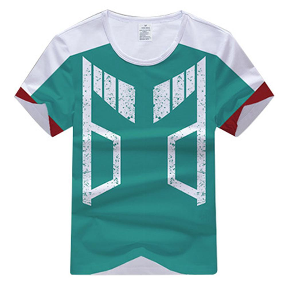 My Hero Academia Izuku Midoriya Cosplay Costume Training Sport Tshirt