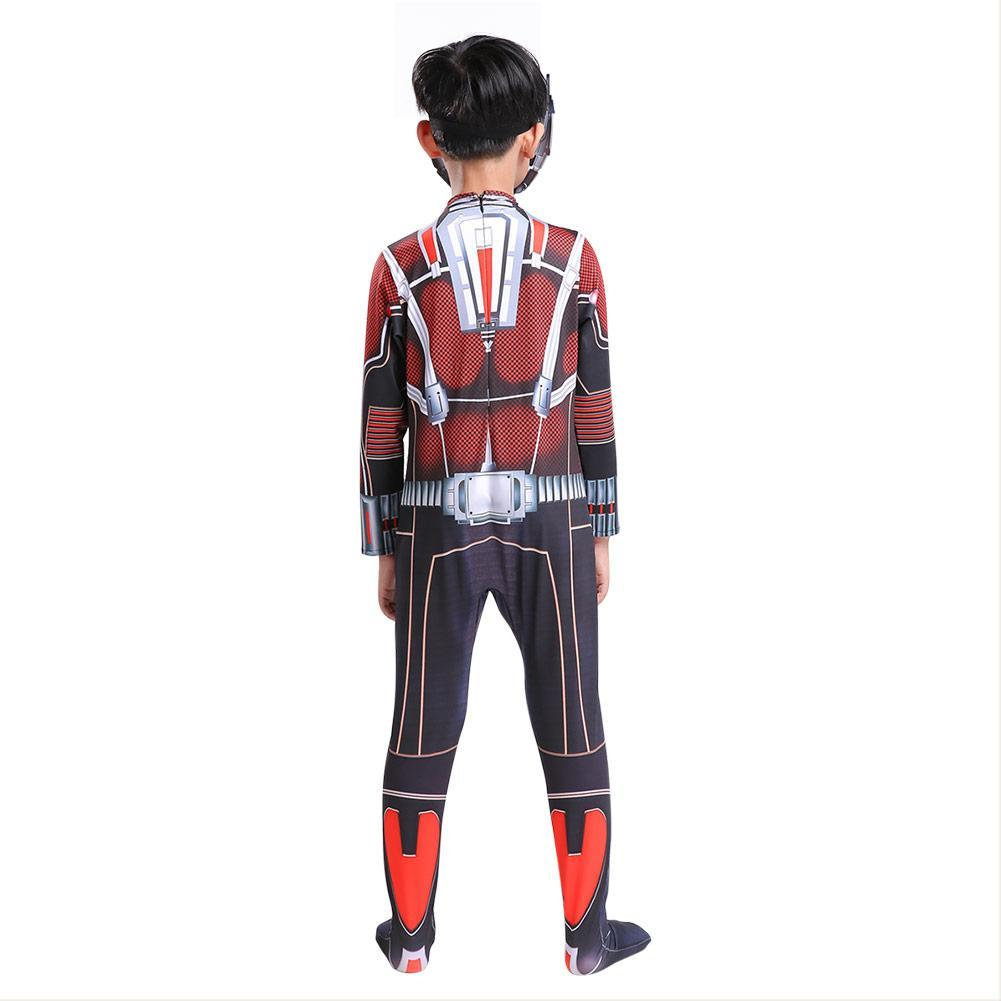 Boys Halloween Costume Ant Man Costume Superheros Cosplay Jumpsuit Outfit