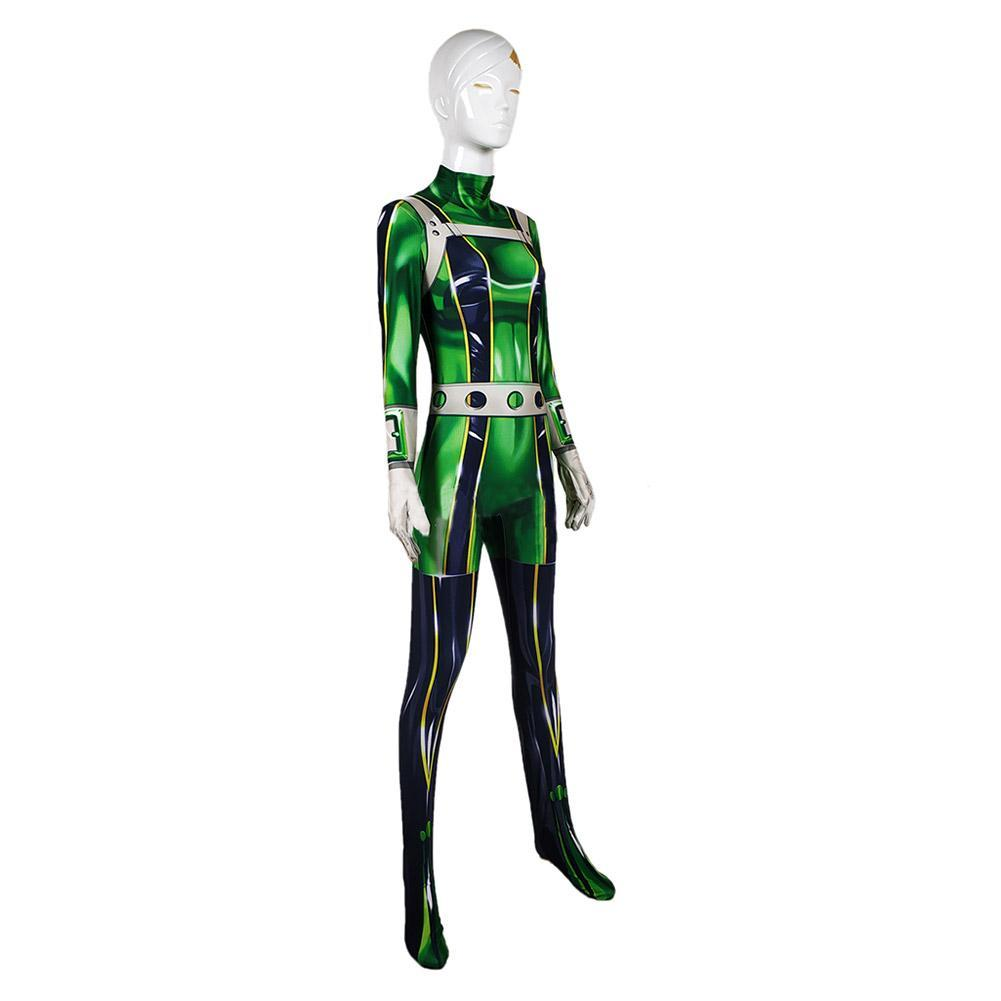 Boku No Hero My Hero Academia Asui Tsuyu Cosplay Costume Jumpsuit Bodysuit