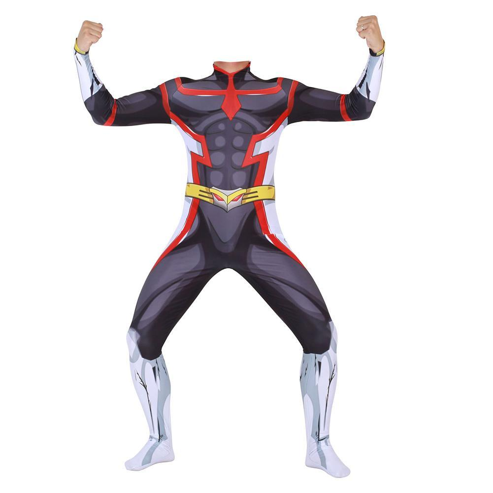 My Hero Academia Two Heroes All Might Cosplay Costume Jumpsuit Bodysuit