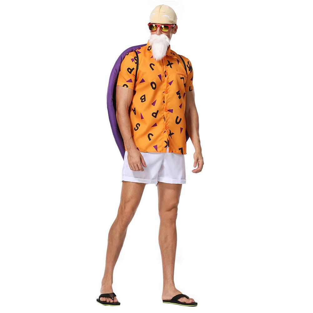 Men Halloween Dragon Ball Kame Sennin Master Roshi Cosplay Costume Fancy Stage Performance Outfit
