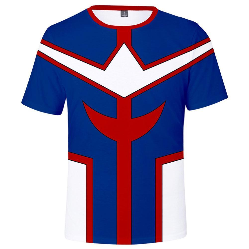 Unisex My Hero Academia T-Shirt All Might Short Sleeve Tee Tops