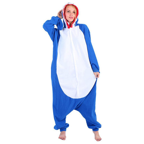 Adult Shark Costume Pajamas Cosplay Animal One Piece Homewear Sleepwear