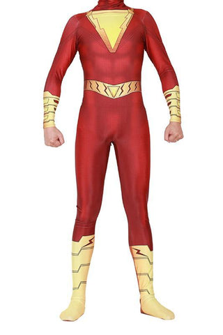 2019 Movie Shazam Billy Batson Outfit Bodysuit Cosplay Costume