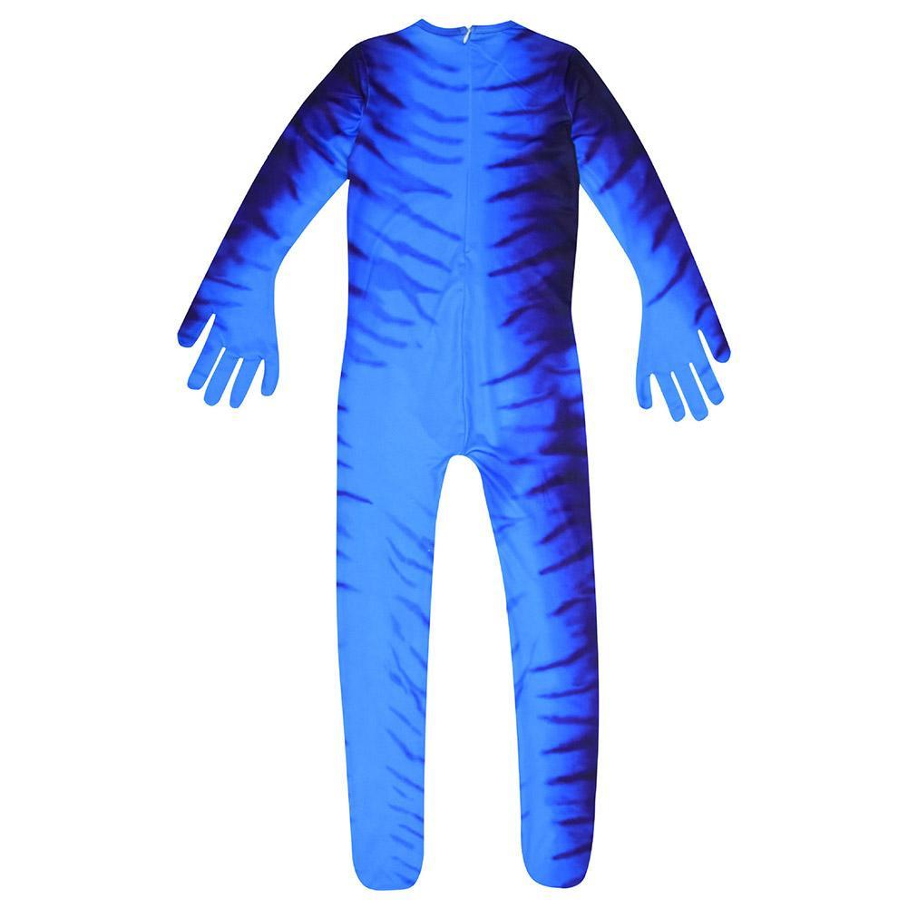 Kids Avatar Cosplay Costume Halloween Zentai Bodysuit Hero Na'vi Jumpsuits Cosplay Party Costume
