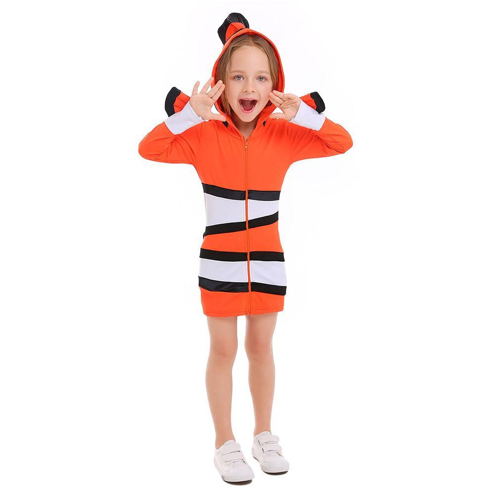 Kids Halloween Ocean Theme Party Clown Fish Nemo Cosplay Matching Outfits