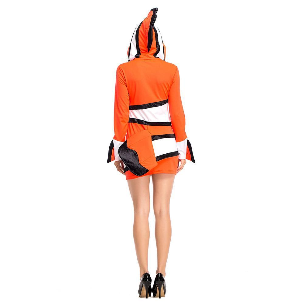 Women Halloween Ocean Theme Party Clown Fish Nemo Cosplay Matching Outfits