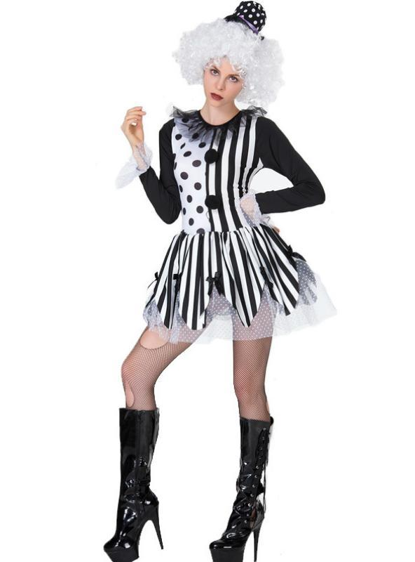Women Halloween Magician Cosplay Clown
