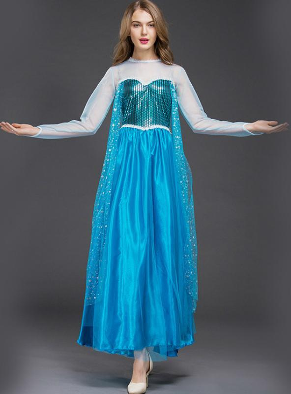 Frozen Played Princess Aisha's Dress For Halloween