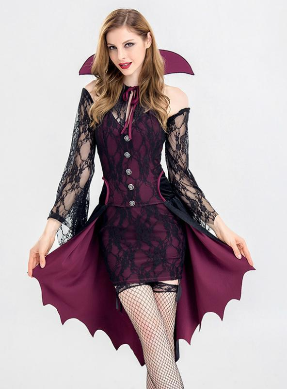 Sexy Lace Vampire Halloween Adult Party