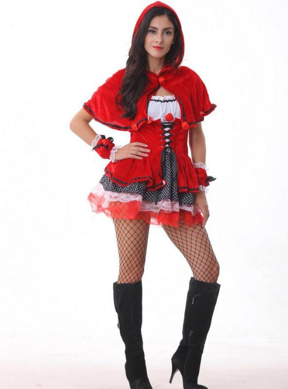 Little Red Riding Hood Costume Cosplay Castle Queen