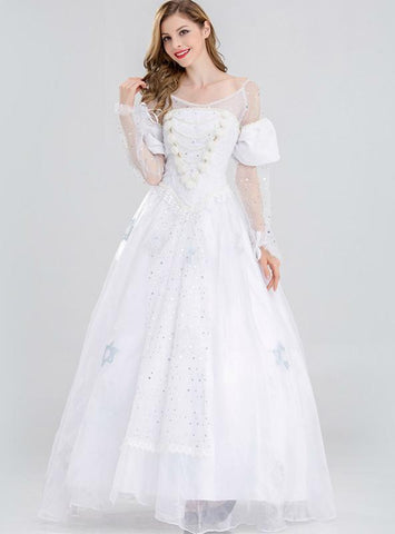 Alice Wonderland White Queen's Cosplay Dress