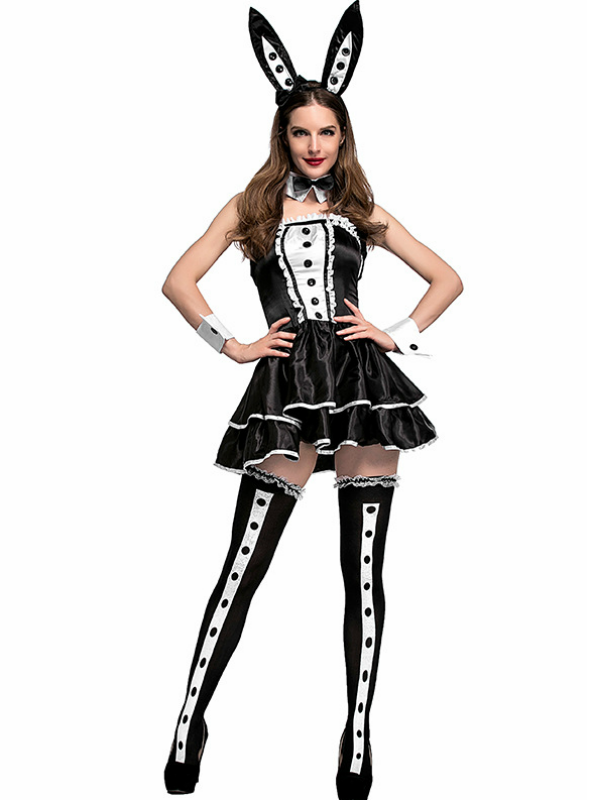 Black And White Bunny Animal Role-playing Costume