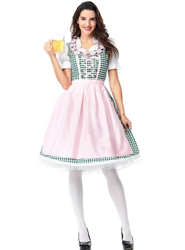 German Beer Long Maid Costumes Halloween Cosplay