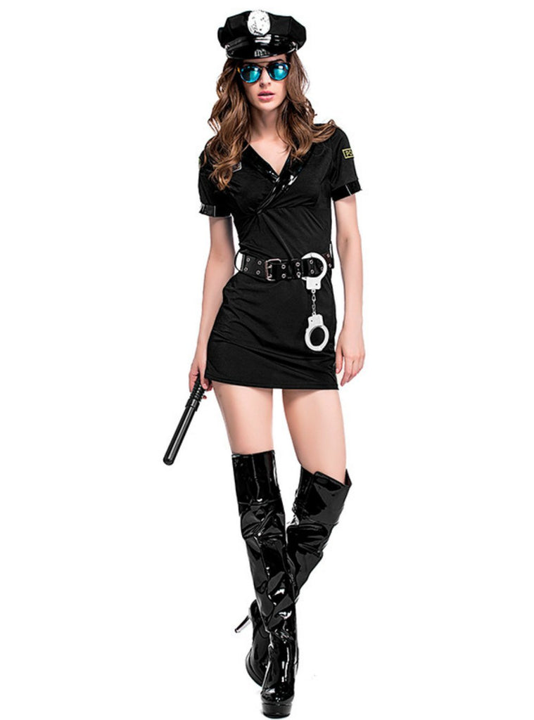 Halloween Police Woman Uniform Suit