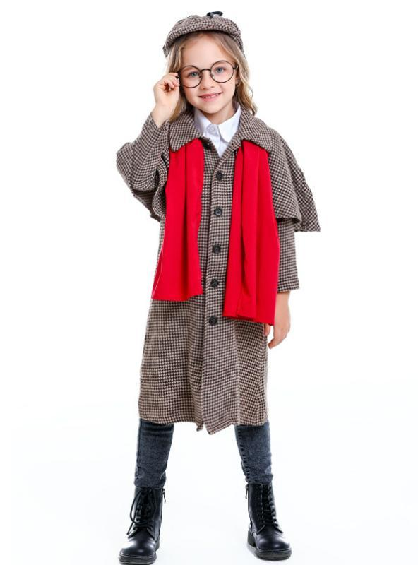 Kids Cosply Sherlock Holmes Role Play
