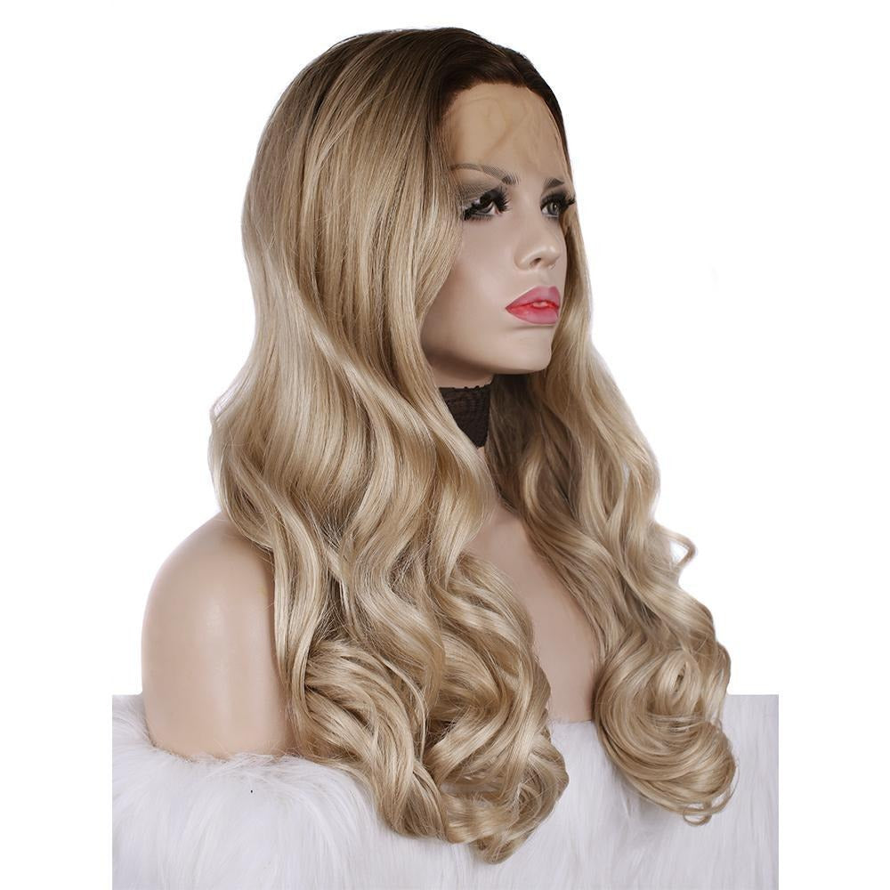 Ombre Blonde Body Wavy Synthetic Lace Front Wigs