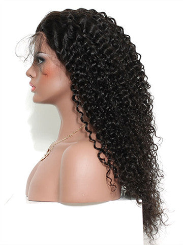 Curly Brazilian Pre-Plucked Hairline Remy Lace Front Human Hair Wig - FashionLoveHunter