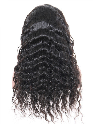 Glueless Full Lace Brazilian Loose Wave Remy Human Hair Wig With Baby Hair - FashionLoveHunter