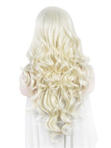 Long Bright Blonde Wave Synthetic Lace Front Wig - FashionLoveHunter