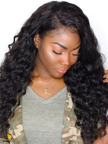 Loose Wave Brazilian Pre-Plucked Hairline Remy Lace Front Human Hair Wig - FashionLoveHunter