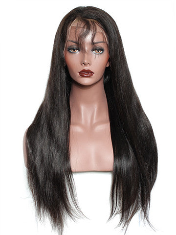 Straight Brazilian Pre-Plucked Hairline Remy Full Lace Human Hair Wig - FashionLoveHunter