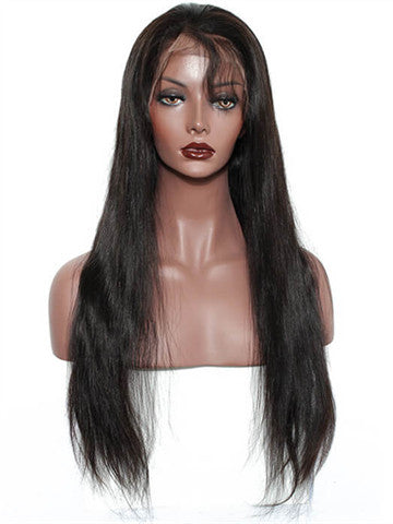 Straight Brazilian Pre-Plucked Hairline Remy Lace Front Human Hair Wig - FashionLoveHunter