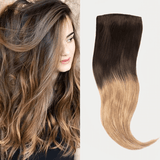 "20"" 8 Pieces Dark Brown Root Dirty Blonde #T218 Virgin Human Hair Clip In Extension"