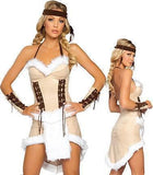 Women Halloween Native American Indian Costume Stage Outfit with Headband