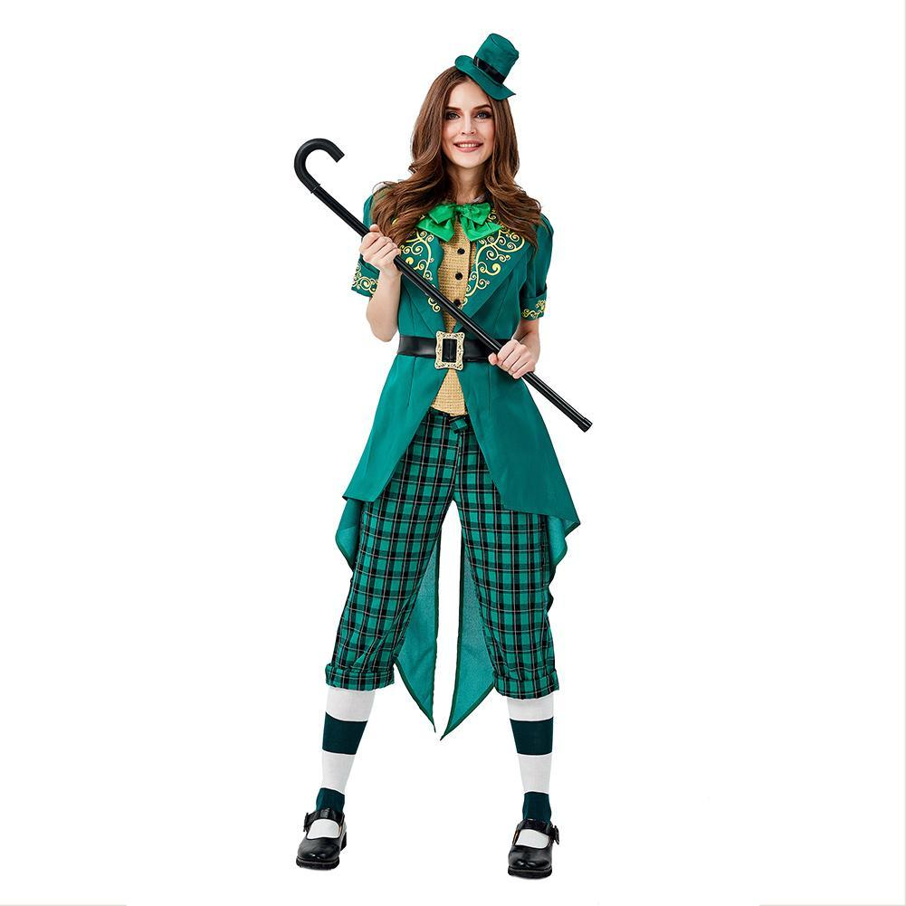 Women Saint Patrick's Day Spirited Chaming Irish Lucky Fairy Leprechaun Costume
