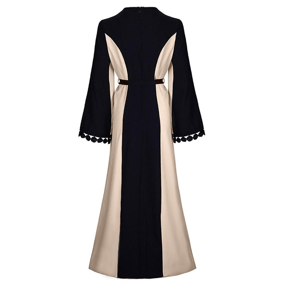 Women Muslim Dress Long Sleeve Turkey Muslim Abaya Dress Long Dress