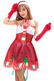 Miss Santa Suit Women Sweetie Christmas Costume Dress