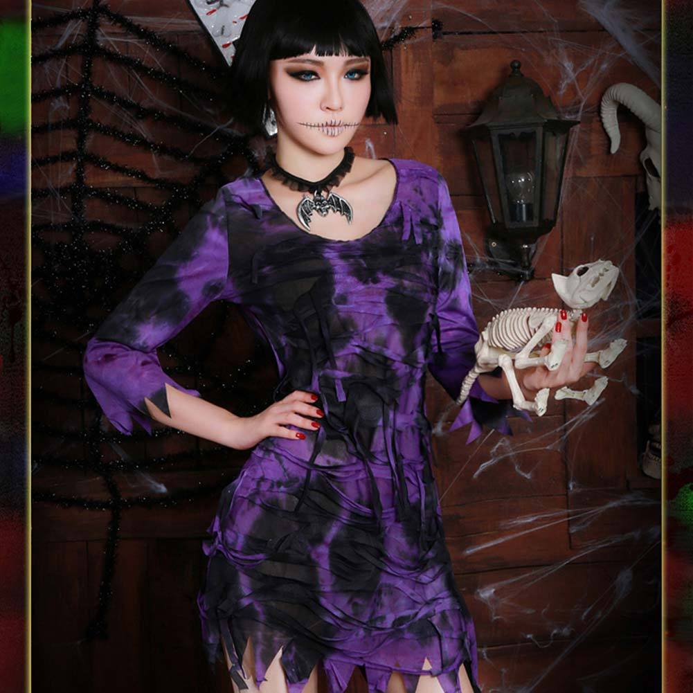 Ladies Horror Egyptian Mummy Dress Halloween Zombie Horror Fancy Dress Costume Outfit