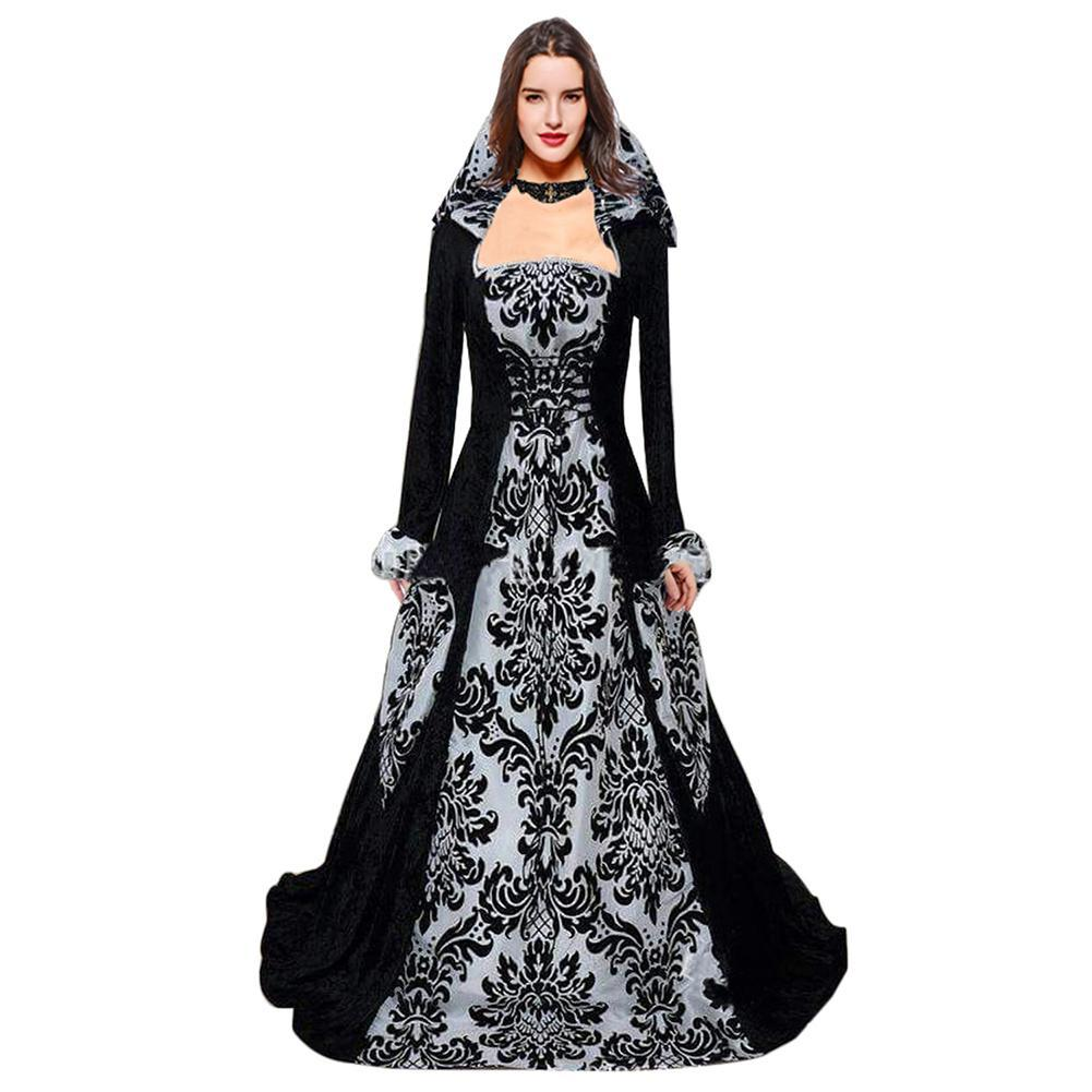 Women's Vintage Renaissance Wedding Dress Medieval Cosplay For Carnival Party Gothic Victorian Ball Gowns
