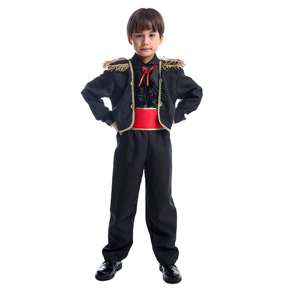 Kids Halloween Matador Bull Fighter Spanish Child Fancy-Dress Costume