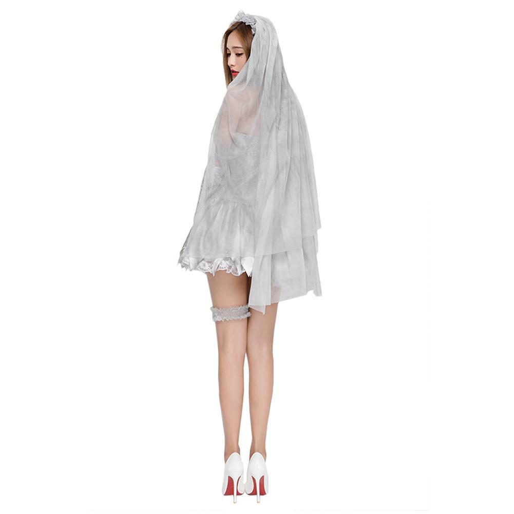 Women Sexy Vampire Bride Cosplay Costumes Lace Mummy Masquerade Cos Dress Halloween Costumes