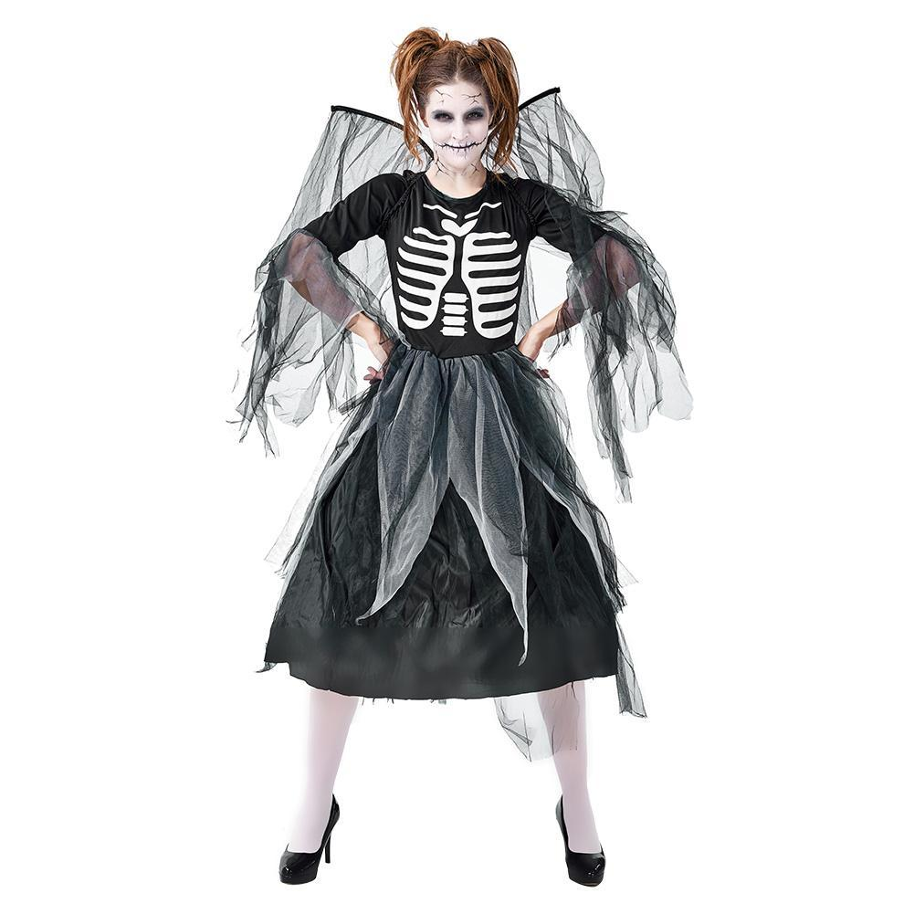 Halloween Women Devil Skull Angel Cosplay Fancy Performance Costume