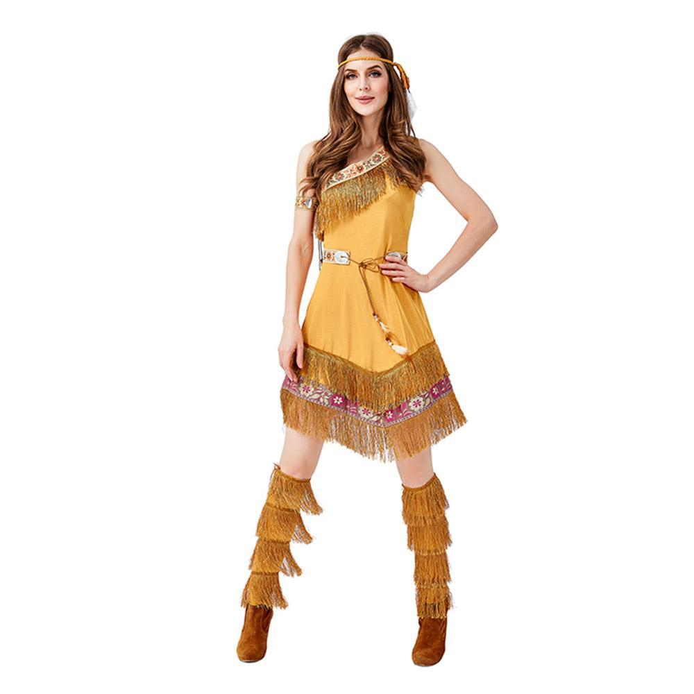 Women Halloween Party Savage Cosplay Clothing Indian Role-Playing Costume