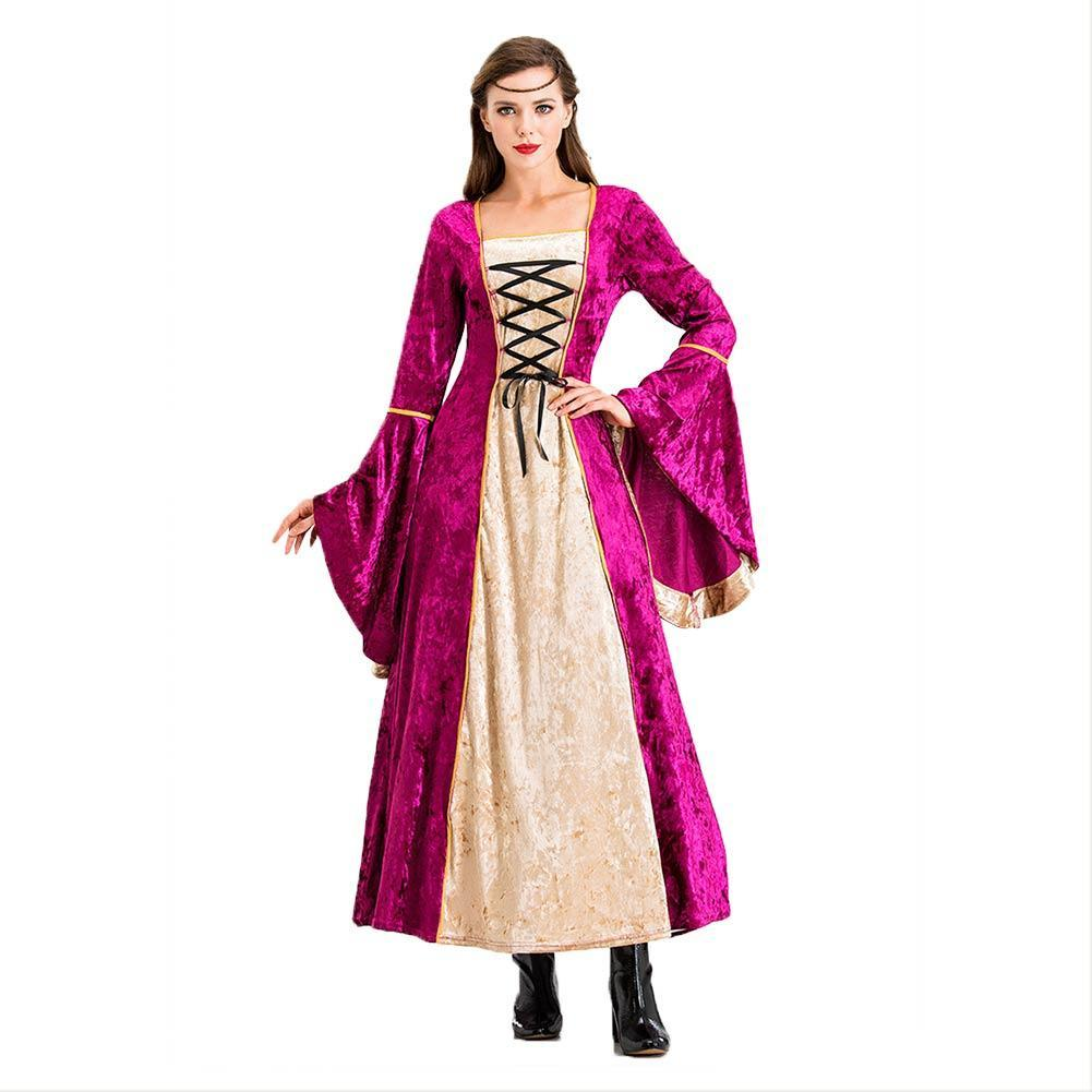 Women Pink Vintage Costumes 18th Duchess Retro Medieval Renaissance Civil War Victorian Dress