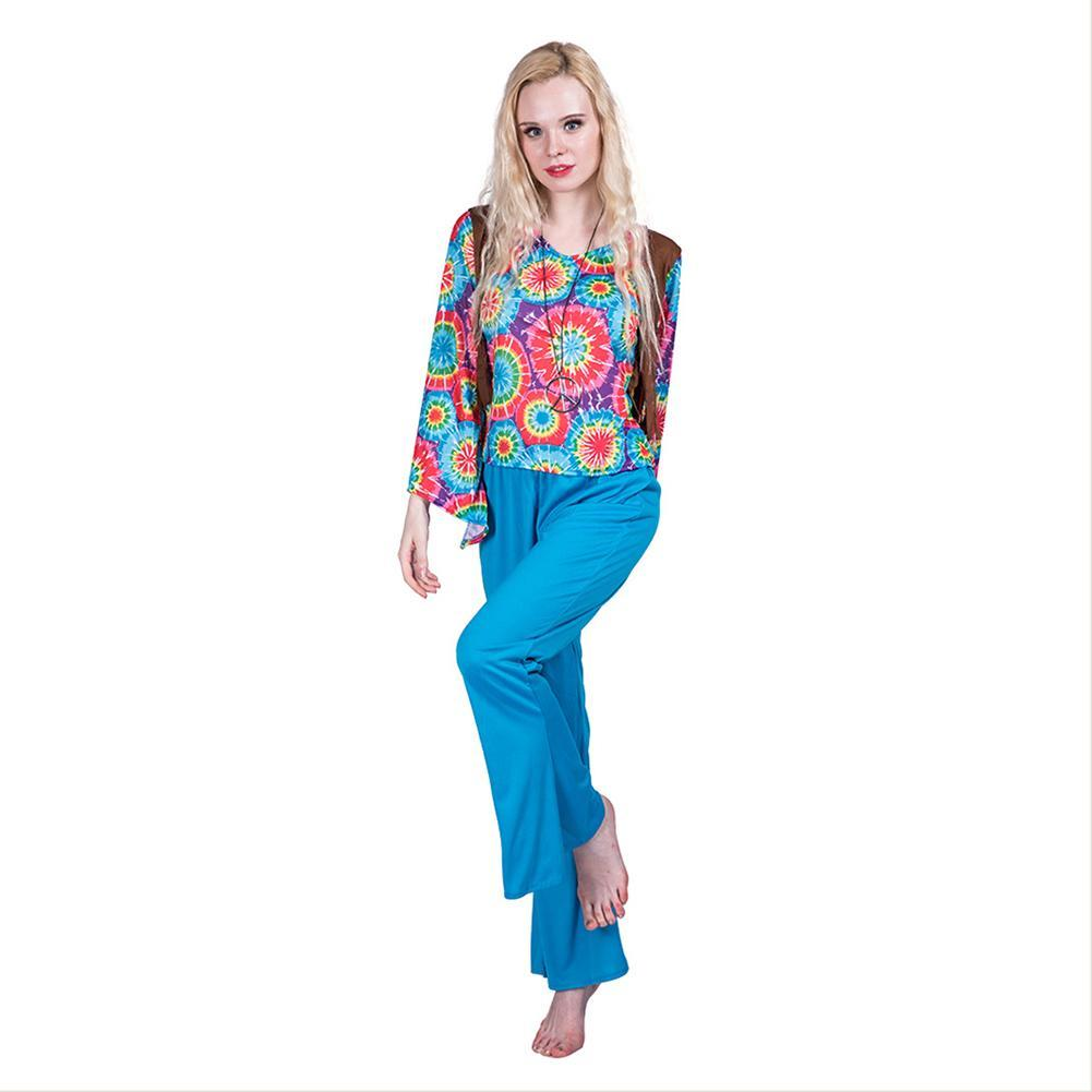 Women 1960s Hippie Costume Sexy 60s Female Hippy 1960 Flares Halloween Outfit