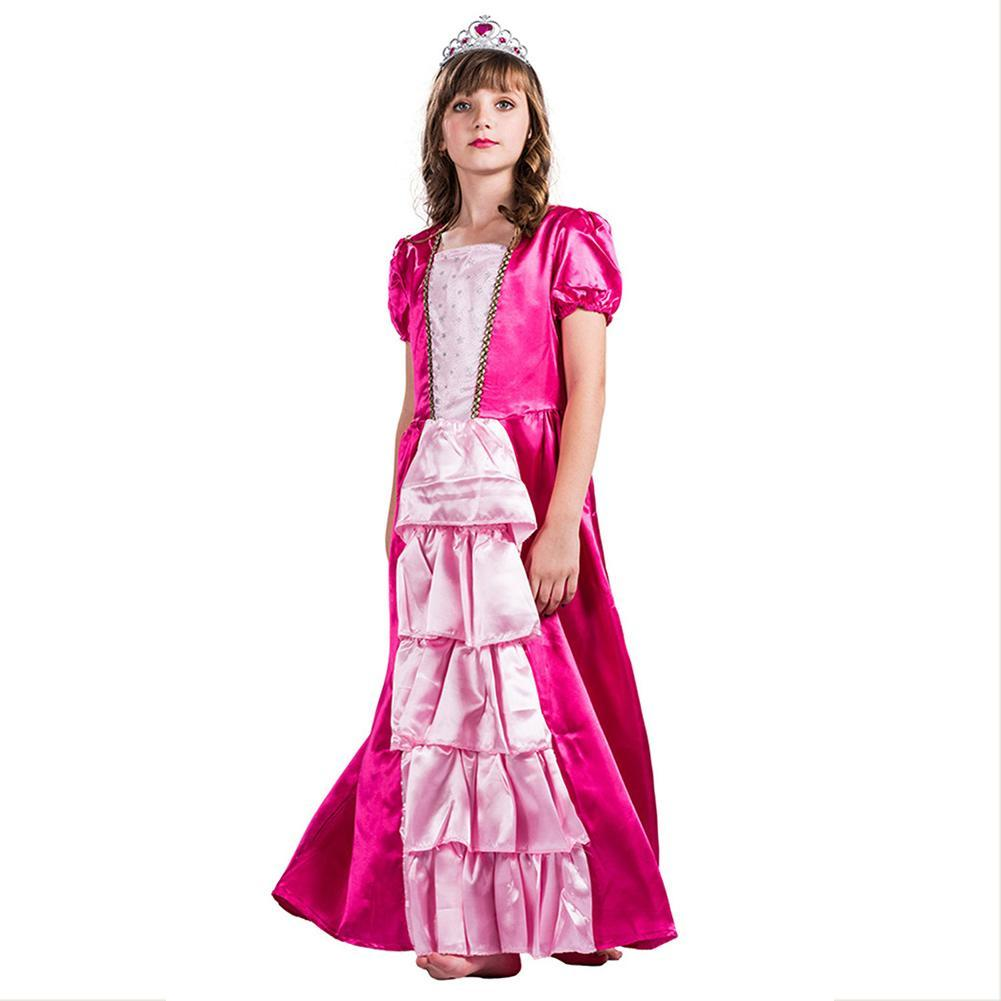 Girls Deluxe Princess Costume Halloween Party Dress Up Outfit