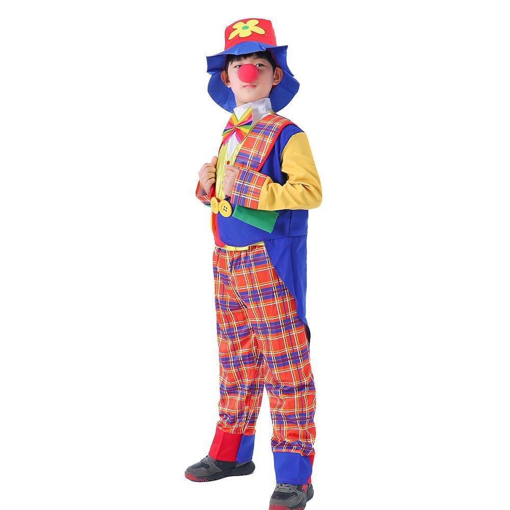Kids Funny Business Circus Clown Horns Costume Juggling Halloween Party Outfit
