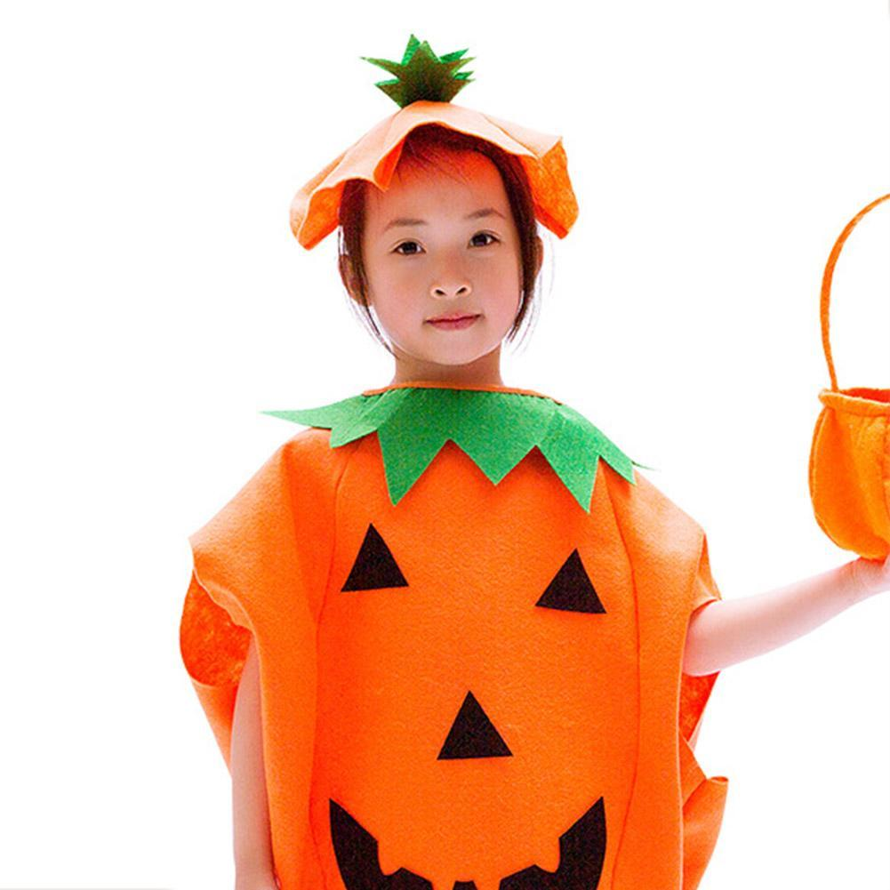 Kids Girls Pumpkin Dress Costume Halloween Party Cosplay Costume Perform Dancewear Stage Wear