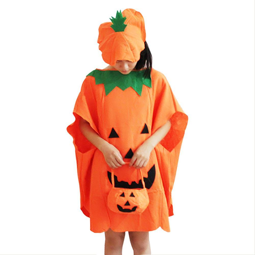 Adult Women Pumpkin Dress Costume Halloween Party Cosplay Costume Perform Dancewear Stage Wear