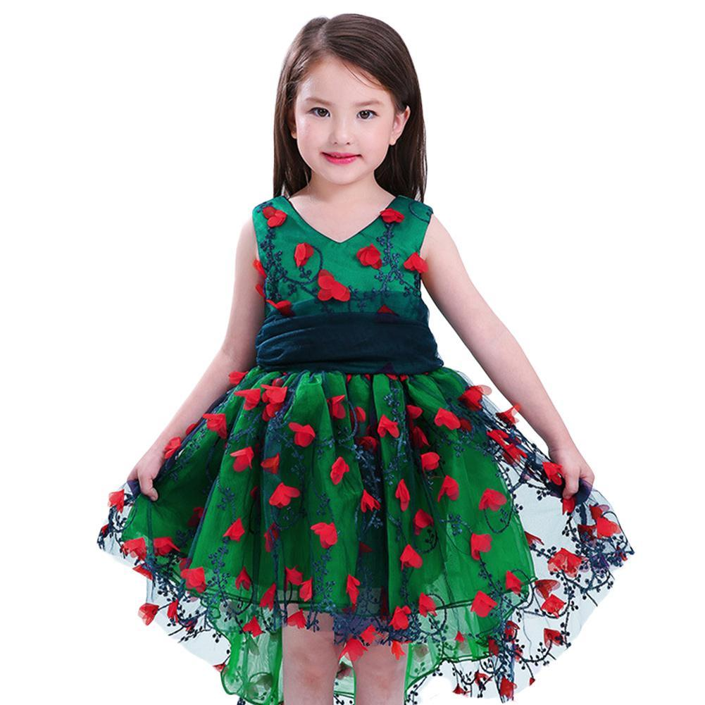 Flower Girls Princess Tutu Dress Print Sleeveless Formal Clothing Dresses