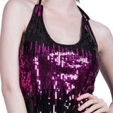 Women's Sexy Sequins Dress Ladies Sparkle Sleeveless Sling Party Nightclub Mini Dresses