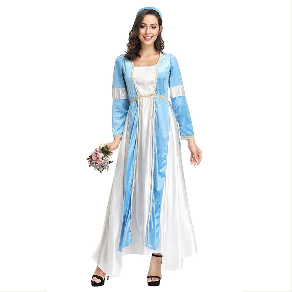 Women Girls Court Princess Dress Halloween Cosplay Costume Fancy Party Dress Up