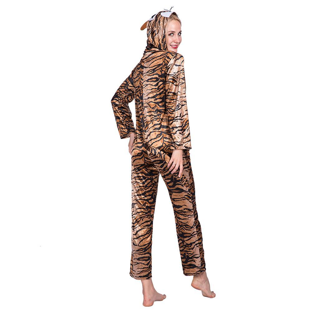 Adult Onesie for Women Halloween Costumes Tiger Pajamas
