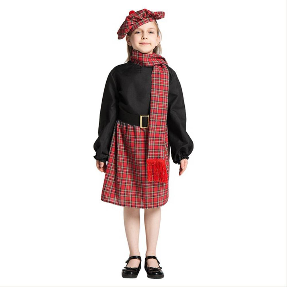 Girls Scotland Dress Carnival Halloween Party Costume