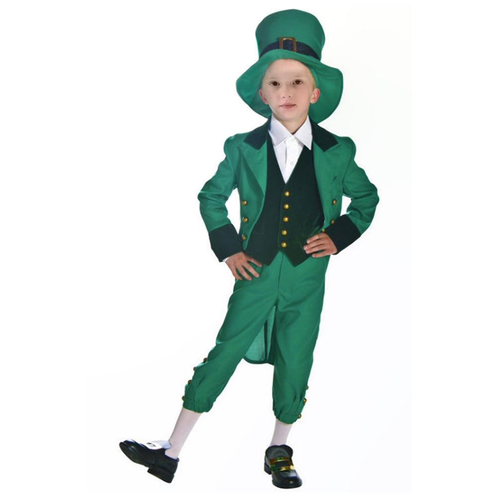 St Patrick's Day Leprechaun Costume For Kids Irish Exotic Outfit